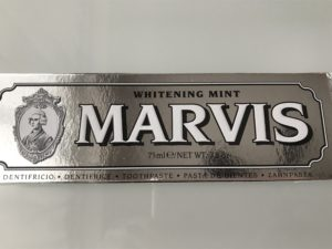 MARVIS WHITENING MINT 歯磨き
