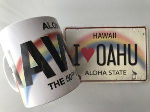ハワイ マグカップ絵はがき