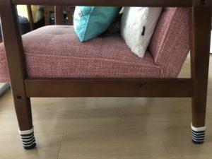Kチェアとセリア テーブル&イス脚カバー