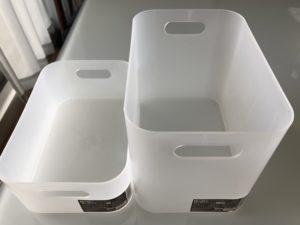 ダイソー積み重ねボックス大・深型と大