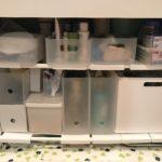シンク下伸縮棚2段を使って目指せ洗面台下美収納