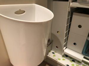 セリア ファインボックス壁掛けホワイトゴミ箱
