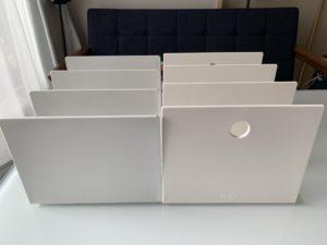 無印良品 スチロール仕切りスタンド・ホワイトグレー3仕切大とKEYUCAブックスタンドN