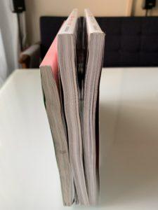 無印良品アクリルデスクトップ仕切りスタンド収納例