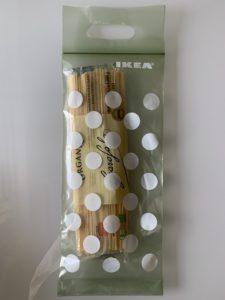 IKEA BAMSIG バムスィグプラスチック袋, グリーン, ベージュ