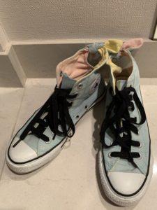 キャンドゥ 伸びる靴ひも平型黒120cm